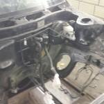 Motorraum beim strippen