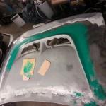 erste Schicht Glasfaserspachtel